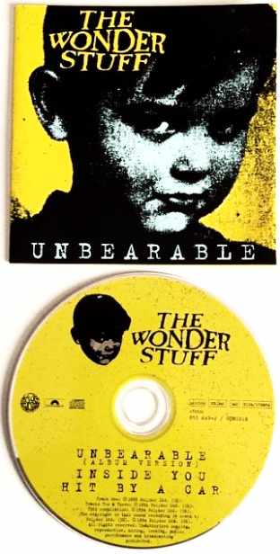 Wonder Stuff (The) - Unbearable (CD Single Pt 1) (VG-/G+)